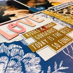 12 x 12 Scrapbook Layout - Love