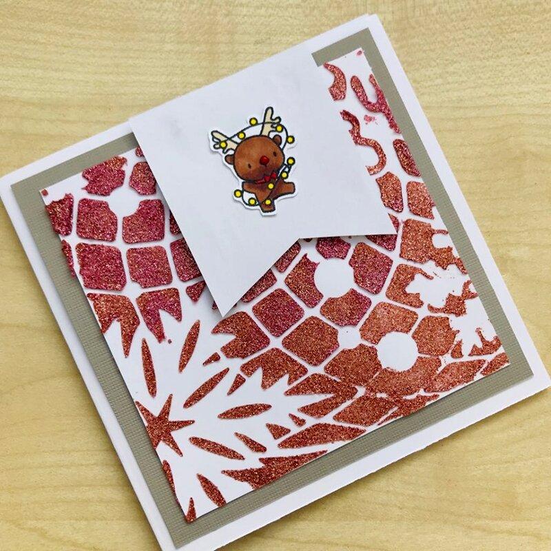 Christmas Stencil Square Card