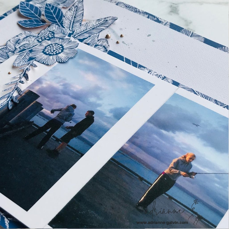 12 x 12 Scrapbook Layout - Fiji