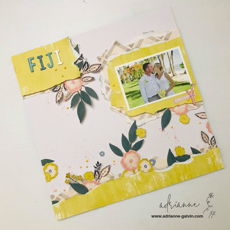 12 x 12 Scrapbook Layout - Fiji