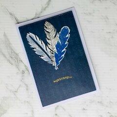 Boho Feather Cards