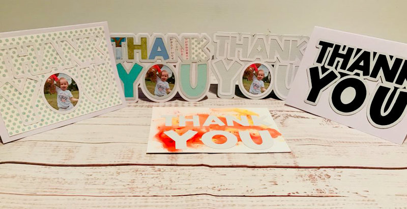 Five Thank You Cards With One Silhouette Cut File