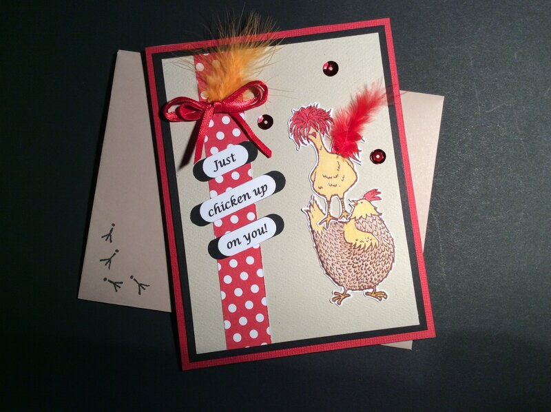 Get well chicken card