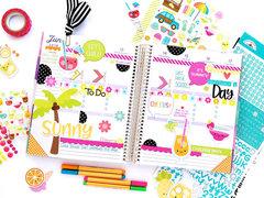 Summer planner spread