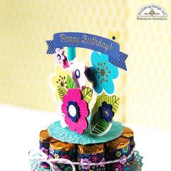 Doodlebug Hello Birthday cake