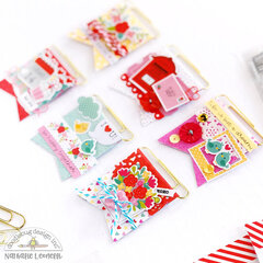 Mini flag embellishments with Doodlebug Love Notes