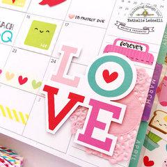Valentine's Monthly Planner spread
