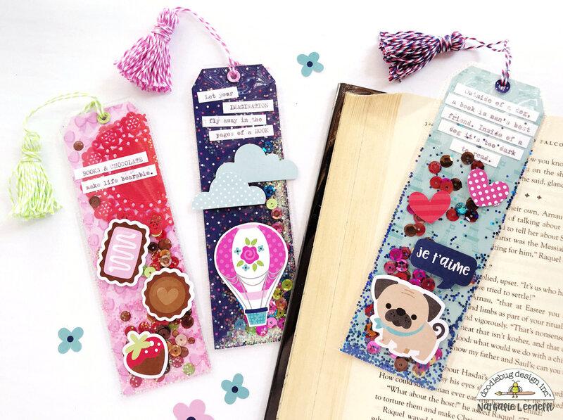 Doodlebug Shaker Bookmarks