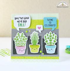 """Thyme"" to celebrate card (Doodlebug Design)"