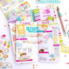 June Planner spread Doodlebug Design