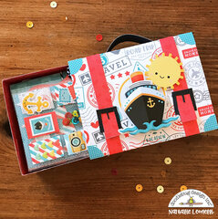 I Heart Travel Happy Mail with a miniature pocket letter