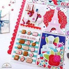 Pocket Letter with Doodlebug Design French Kiss