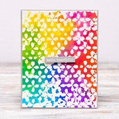 Rainbow Teardrop Floral