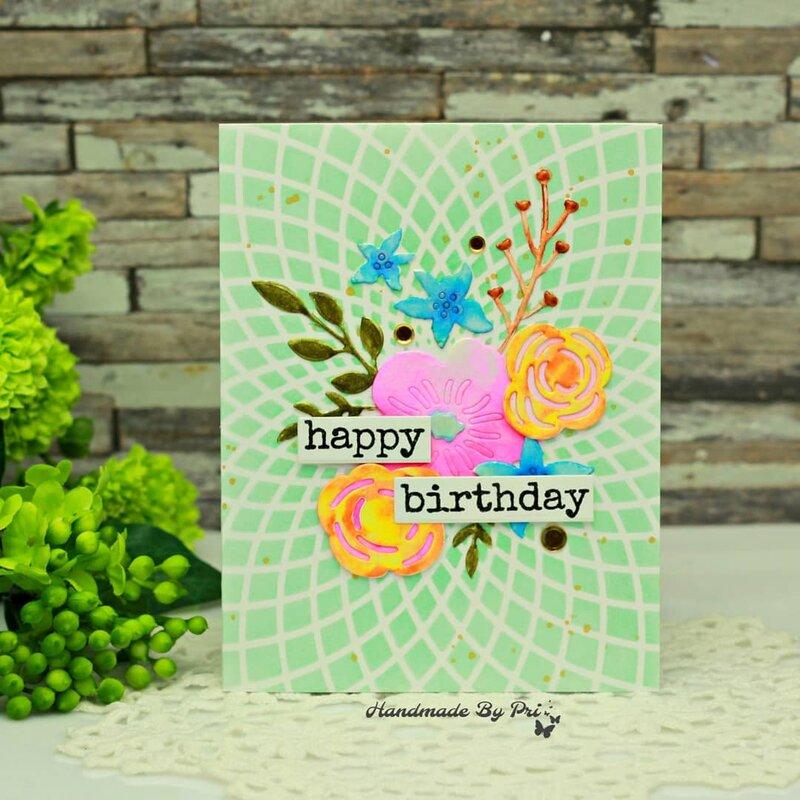 Birthday Card using Alenew 3d dies
