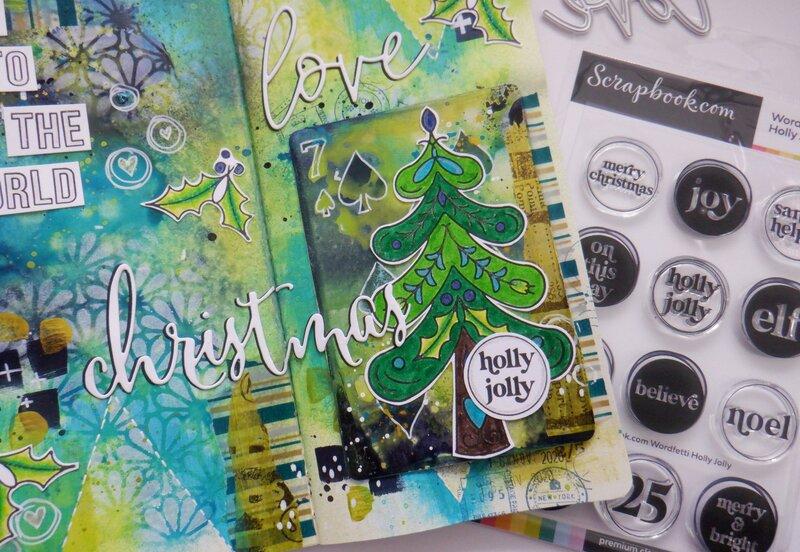 Christmas Love Art Journal Layout :D