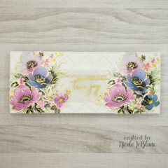 Floral card with washi tape & dies