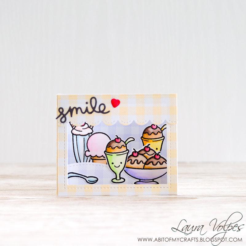 Ice Cream Shop Shadow Box Card