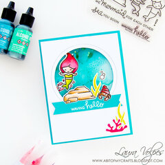 Suspended Shaker Card feat Lawn Fawn