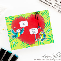 Love you card feat Heffy Doodle