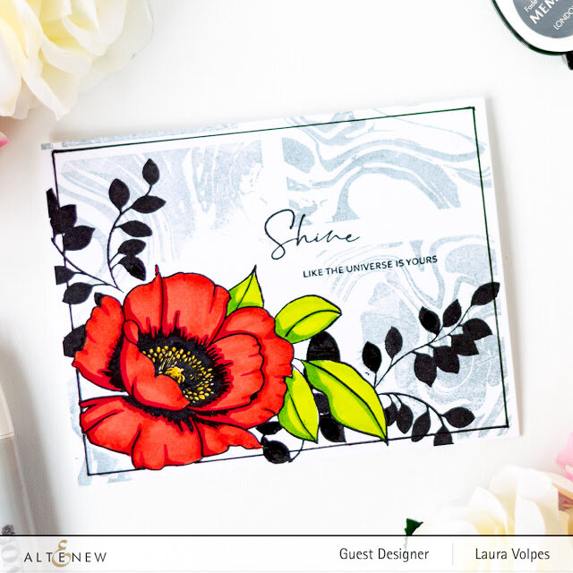 Encouragement Card with Altenew Wallpaper Art