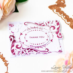 Foiled Card with Spellbinders Royal Florish by Becca Feeken