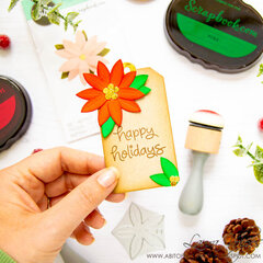 Christmas Tag with the Sizzix Pretty Flower Die