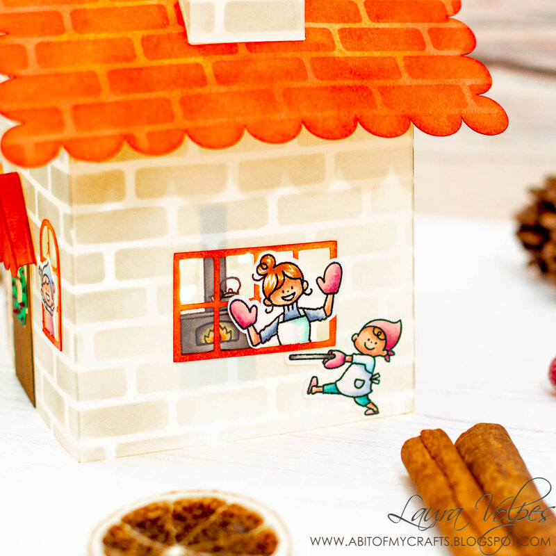 3D House with Scrapbook.com Little Houses Cut File