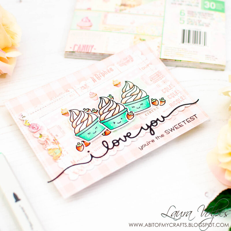 I Love You Card feat Lawn Fawn Sweet Friends