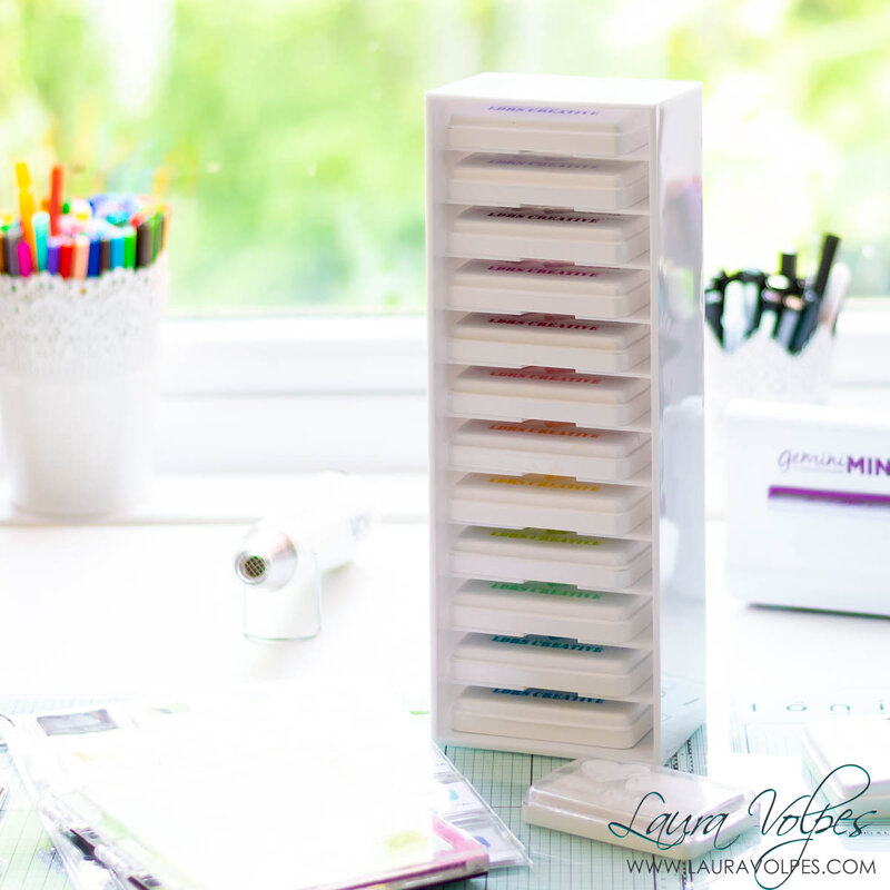 Ink Swatches and Storage | Craft Room Organization