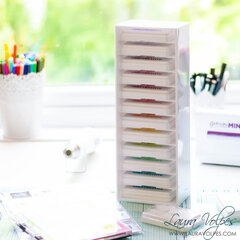 Ink Swatches and Storage | Craft Room Organization