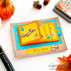 Flippin Awesome Fall Card | Lawn Fawn Let's Go Nuts