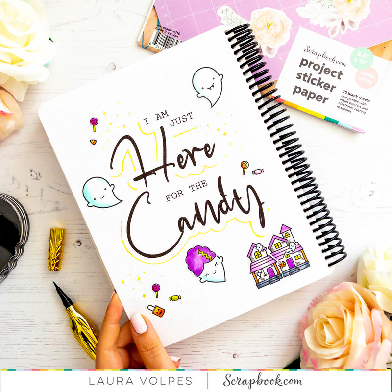Canvo Bullet Journal with DIY Stickers