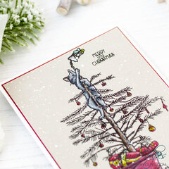 Clean and Simple Christmas Card   Colorado Craft Company