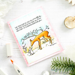 Magical Winter Card with Colorado Craft Company