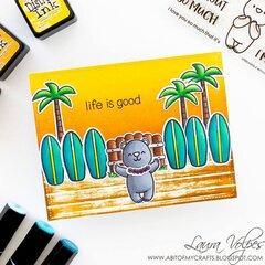Hawaii Inspired Card feat Heffy Doodle