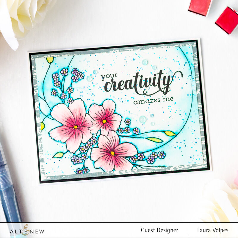 Watercolor Floral Card with Altenew Everlasting Happiness