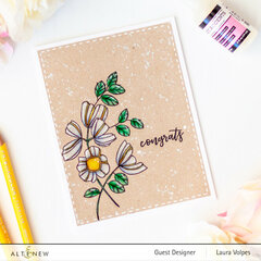 Clean and Simple Floral Card with Altenew Weekend Doodles