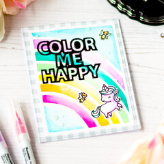 Bright and Cheerful Card feat Scrapbook.com Color Me Happy SVG Files