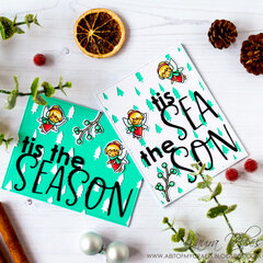 Christmas Cards with Scrapbook.com Tis the Season Cut Files