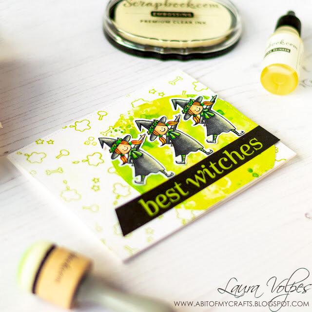 Custom Heat Embossed Background | Scrapbook.com Premium Clear Embossing Ink + Reinker