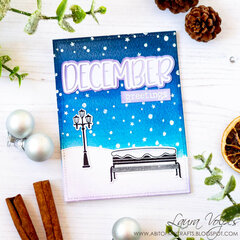 Winter Scene with Scrapbook.com December SVG File