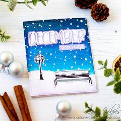 Winter Scene with Scrapbook.com December SVG File