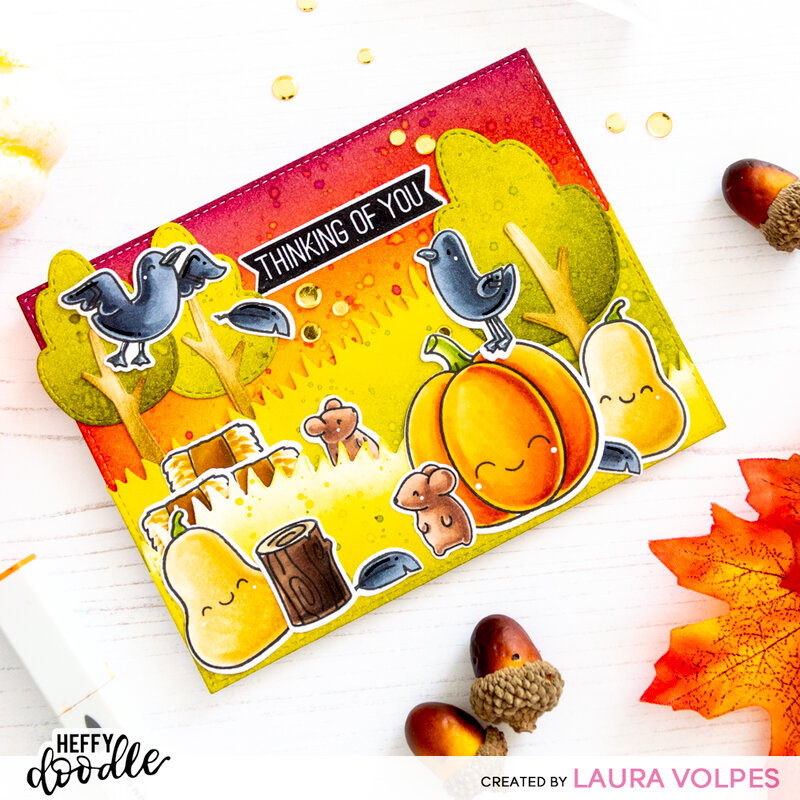 Fall Scene with Heffy Doodle - Stretch Your Supplies