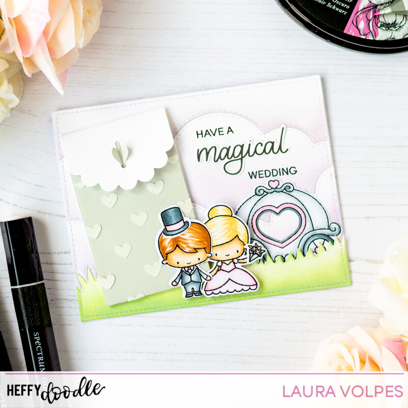 Wedding Card with Gift Card Pocket