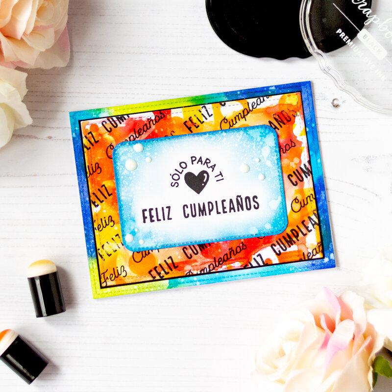 Birthday Card with Scrapbook.com Spanish Sentiments