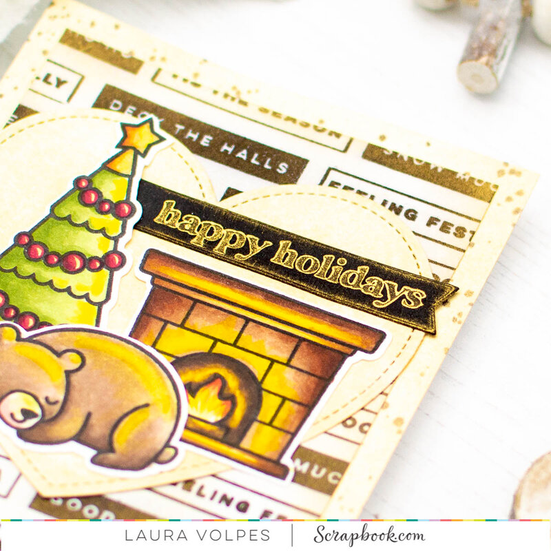 Christmas Card with Gold Metallic Ink