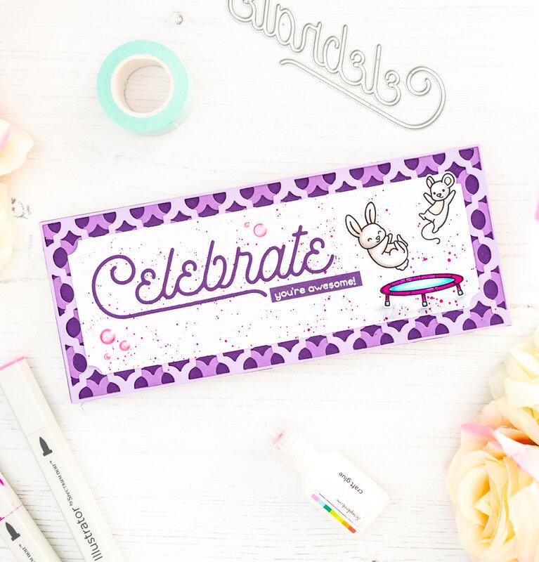 Celebrate Slimline Card with Cover Dies