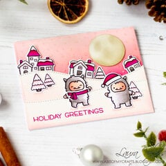 Monochromatic Christmas Scene with Lawn Fawn