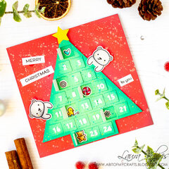 Peek A Boo Card with Scrapbook.com Advent Tree SVG File