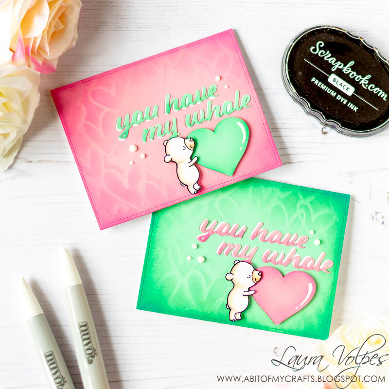 Two Cards feat Scrapbook.com My Whole Heart SVG File